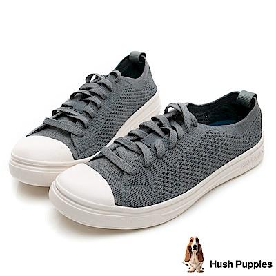 Hush Puppies 玩色針織休閒鞋-湖藍