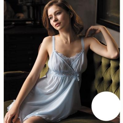 華歌爾睡衣-時尚知性 M-L  睡衣裙裝 (白)超細針織
