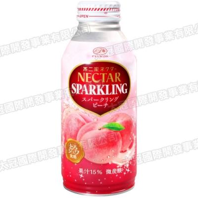 不二家 NECTAR碳酸飲料-白桃風味(380ml)