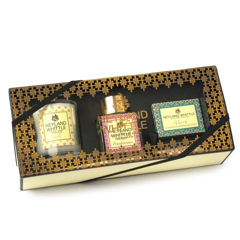 H&W英倫薇朵 馨香擴香禮盒 (香氛燭75g+擴香瓶50ml+手工香氛皂45g)