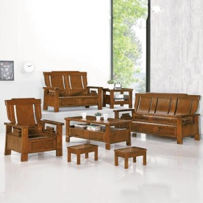 MUNA 3108型深柚木色實木組椅(三人座)  188X80X104cm