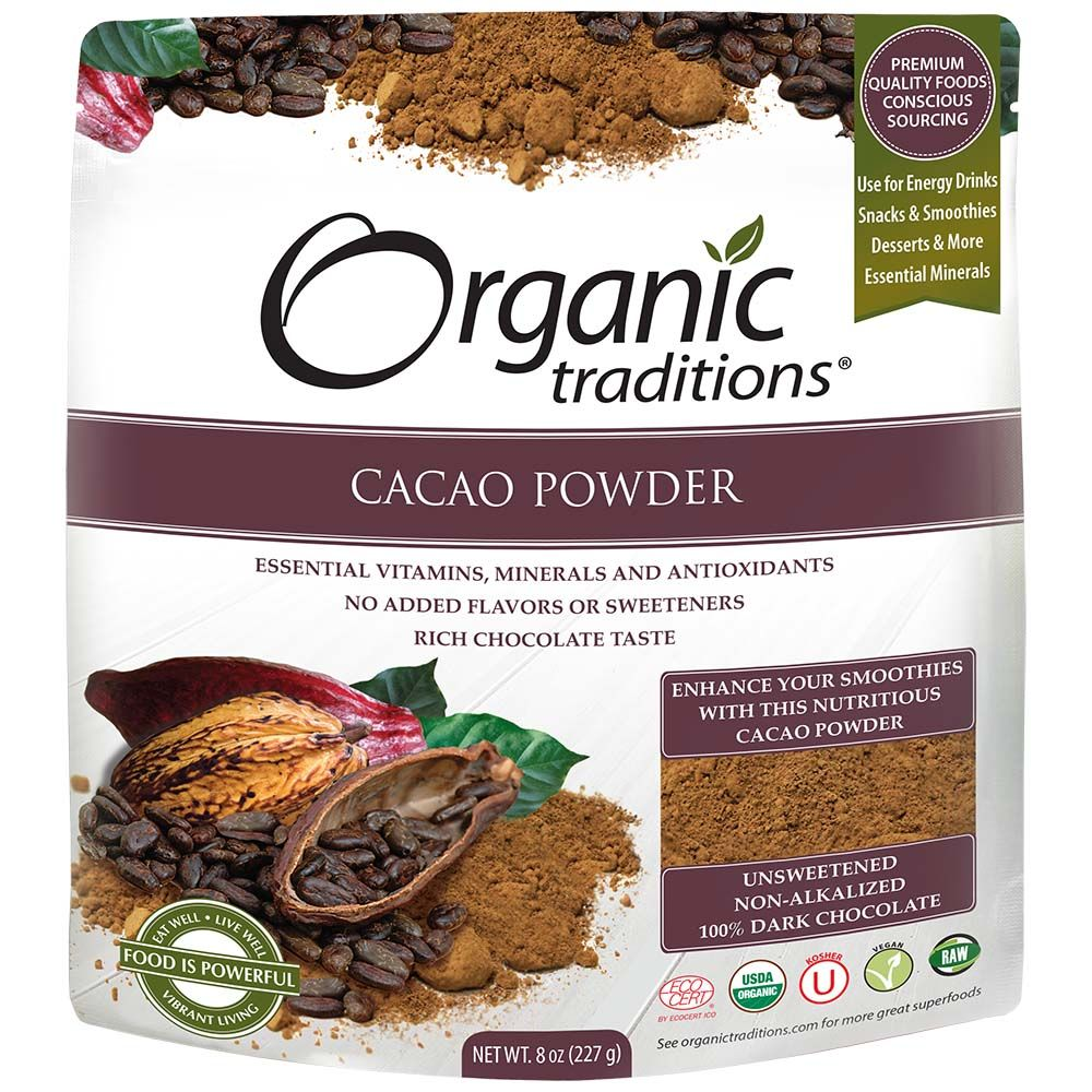 Organic Traditions 有機生可可粉-無糖(227g)