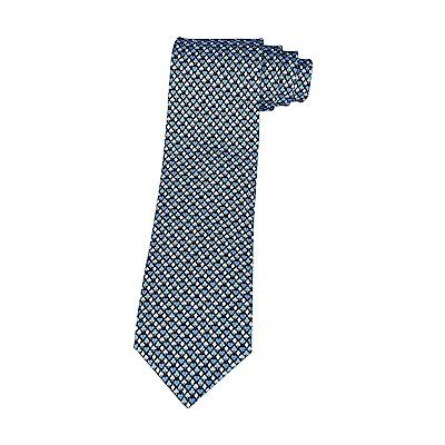 HERMES愛馬仕7 CARRE D AS緹花LOGO撲克圖騰設計蠶絲領帶(深藍)