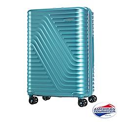 AT美國旅行者24吋High Rock流線硬殼TSA行李箱(湖水藍)
