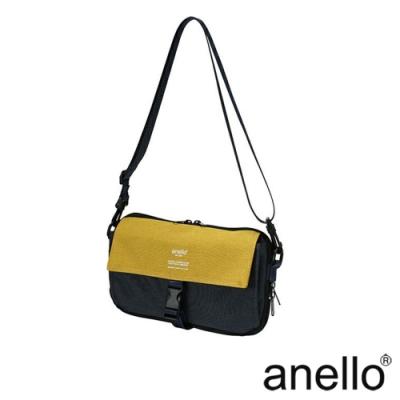 anello THE DAY 多收納輕巧斜背包 深藍x黃色