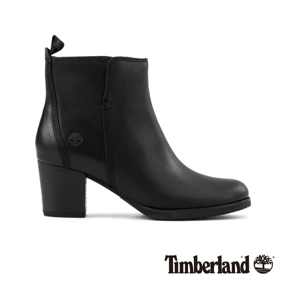 Timberland 女款黑色全粒面皮革Eleonor 休閒鞋 | A1PZ5
