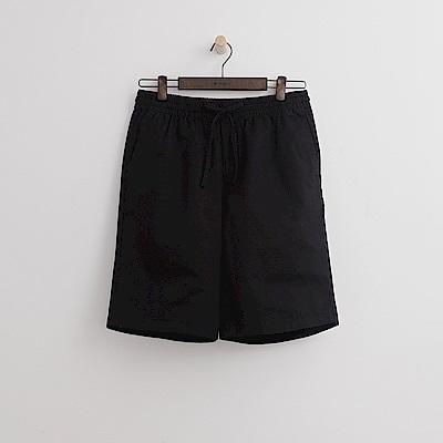 Hang Ten - 男裝 - 多彩抽繩休閒短褲-黑色