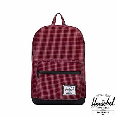 Herschel Pop Quiz 後背包-暗紅格紋