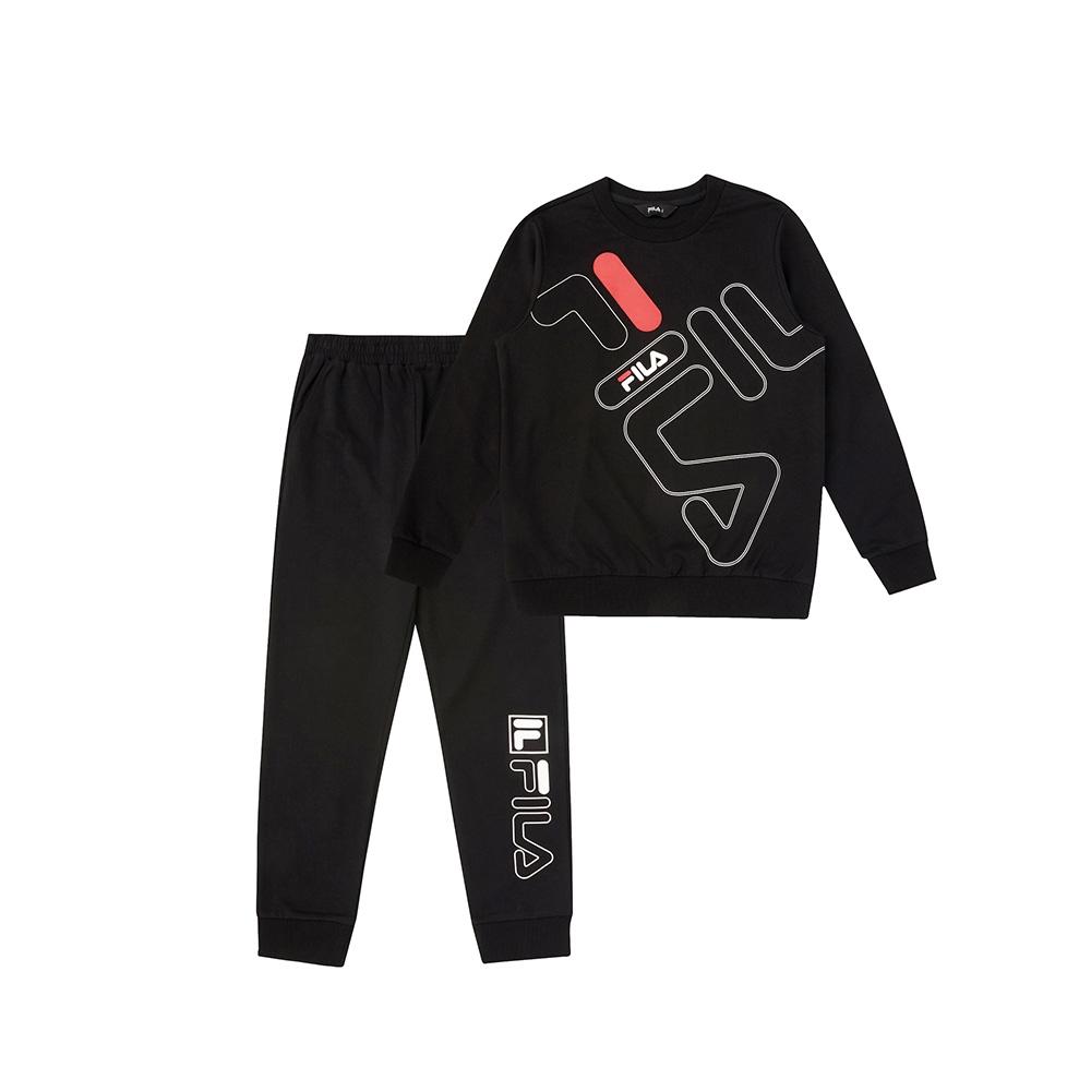 FILA KIDS 童長袖針織套裝-黑色 1WTV-8905-BK