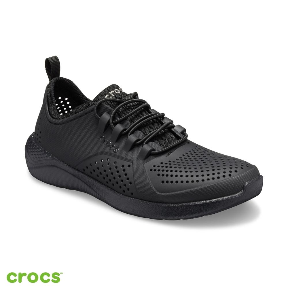 Crocs 卡駱馳 (童鞋) LiteRide徒步繫帶鞋-206011-060