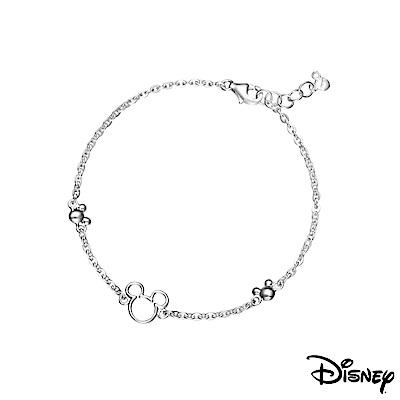 Disney迪士尼系列銀飾 純銀手鍊-鏤空米奇款