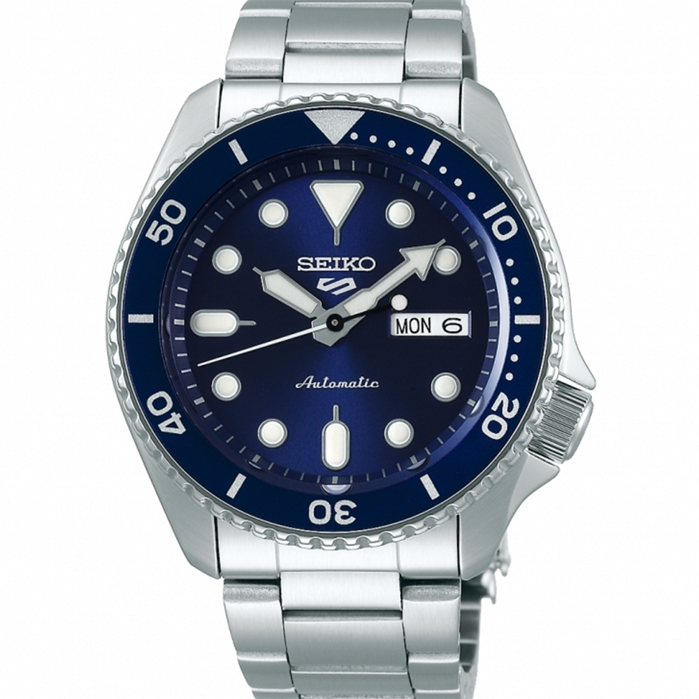 SEIKO 精工 5 Sports 系列 藍面鏈帶機械錶4R36-07G0B (SRPD51K1)x42.5mm product image 1