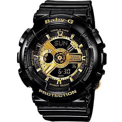 Baby-G 酷黑金運動錶(BA-110-1A)