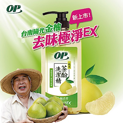 OP 茶酚金柚清香洗潔精1000g