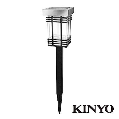 KINYO 日式太陽能雙LED庭園燈GL6028