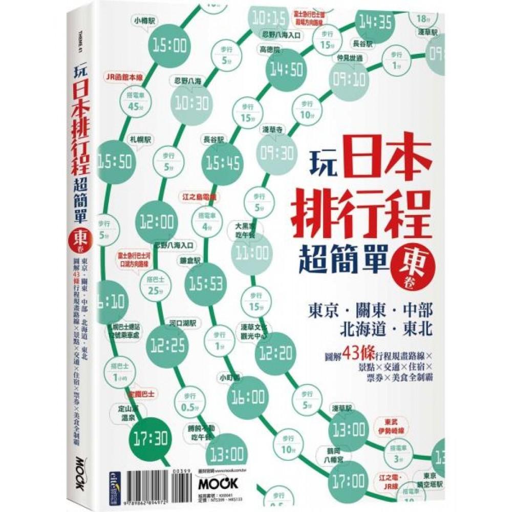 玩日本排行程超簡單東卷