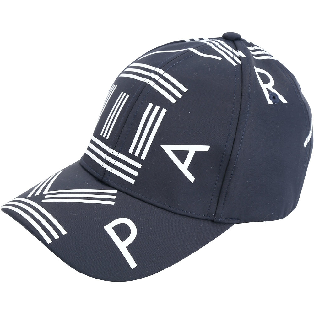 KENZO 品牌幾何LOGO尼龍棒球帽(深藍色)