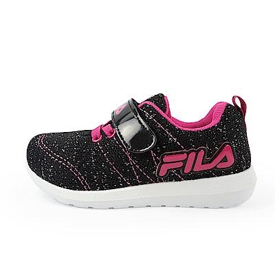 FILA PVC輕量慢跑鞋 黑桃 中童(4~6歲) 2-J424U-022