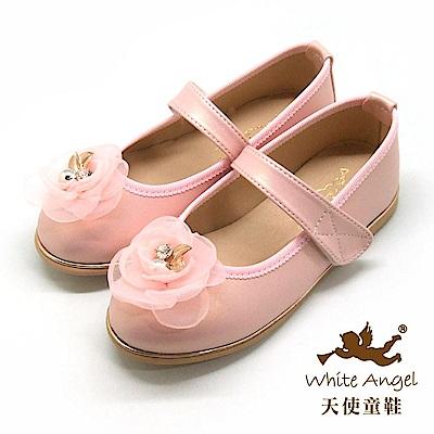 天使童鞋 優雅水鑽茶花公主鞋 JU8010 粉