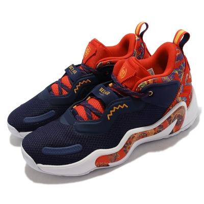 adidas 籃球鞋 D O N  ISSUE 3 GCA 男鞋 愛迪達 避震 透氣 包覆 Bel Air 藍 紅 GV7273