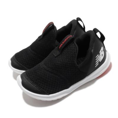 New Balance 休閒鞋 Step Wide 寬楦 套腳 童鞋 紐巴倫 輕便 舒適 易穿脫 小童 球鞋 黑 白 IOSTEPCKW