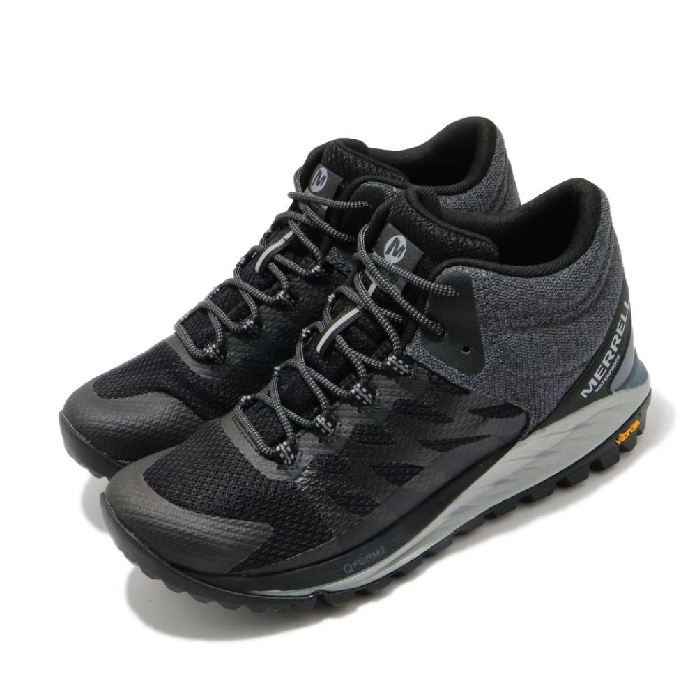 Merrell 慢跑鞋 Antora 2 Waterproof 女鞋 抗撕裂網布 防水 彈性 支撐 吸震 耐磨 黑 灰 ML035644