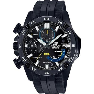 EDIFICE 三針三眼酷黑腕錶(EFR-558BP-1A)/48mm