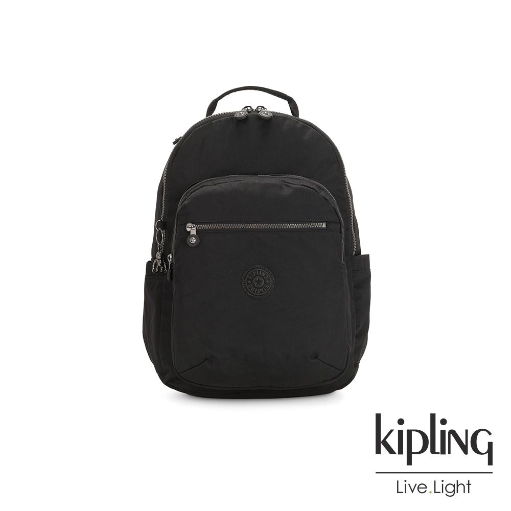 Kipling 極致低調黑機能手提後背包-SEOUL