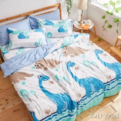DUYAN竹漾-比利時設計-雙人加大床包枕套三件組-恐龍世界 台灣製