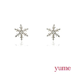 YUME - K金雪花耳環
