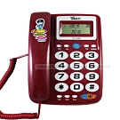 羅蜜歐 超大鈴聲來電顯示有線電話機 TC-355R (兩色)