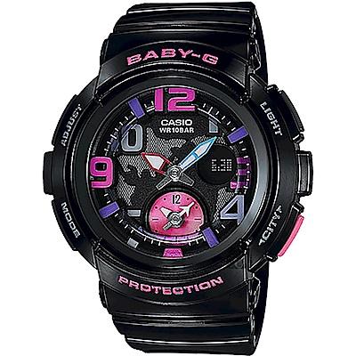 Baby-G 旅行系列地圖手錶-黑(BGA-190-1B)