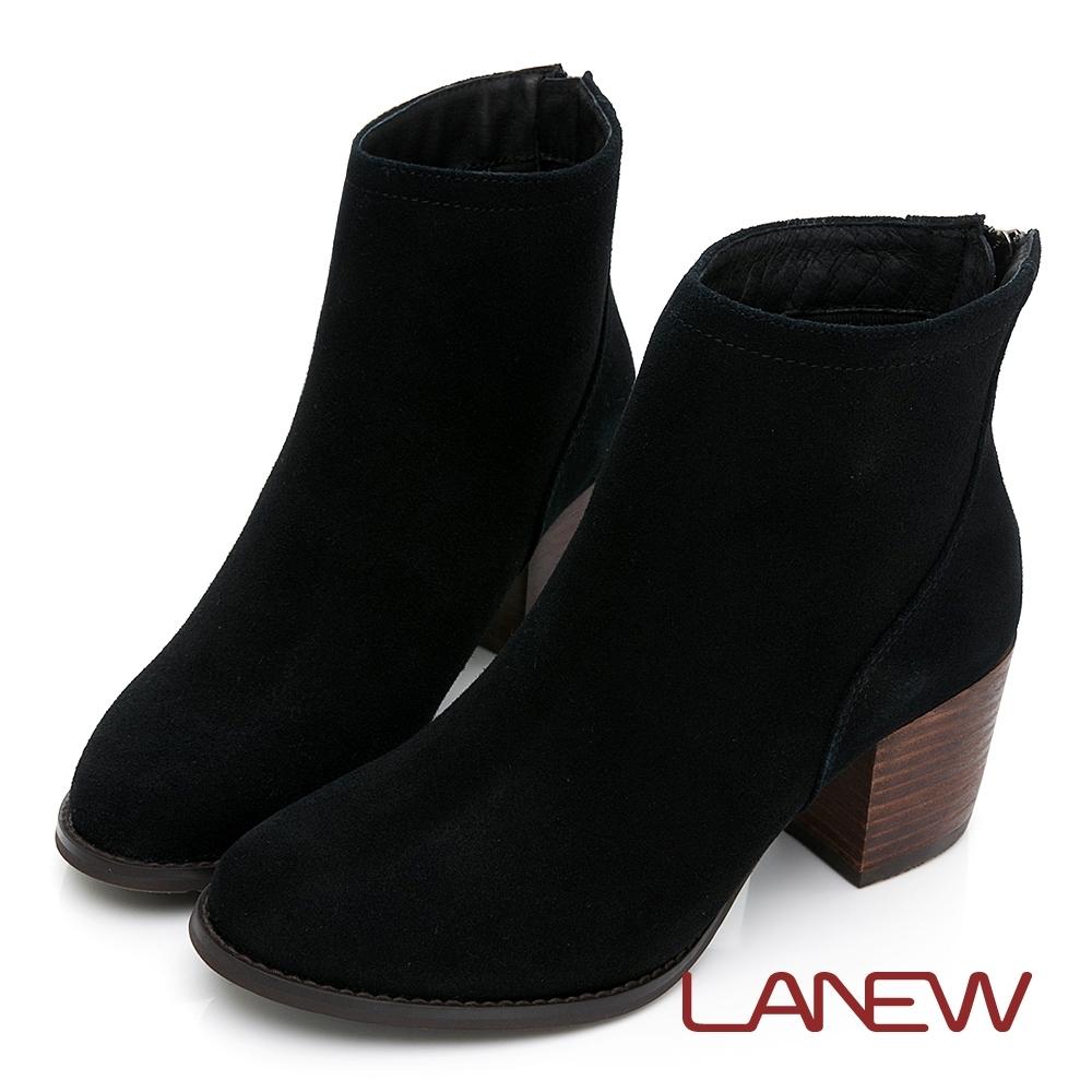 LA NEW 知性簡約麂皮淑女短靴(女226048730)