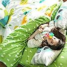 戀家小舖 / 雙人床包被套組  遇見朵朵-兩色可選  100%精梳棉  台灣製