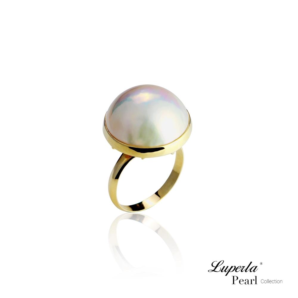 大東山珠寶 海水馬貝珍珠14K金戒指 夢幻之珠 永恆之星