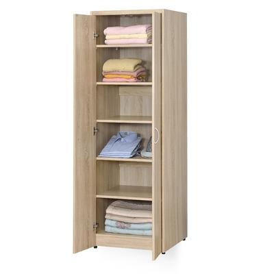 時尚屋 格納2尺雙門層板衣櫃 寬60x深58x高180公分