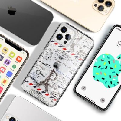 MOOTUN for iPhone 12 / 12 Pro 6.1 防護晶透保護殼 -鐵塔郵戳