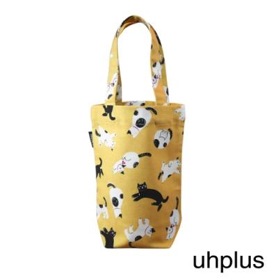 uhplus 隨行環保飲料袋(長版) - 青青貓島(暖陽)