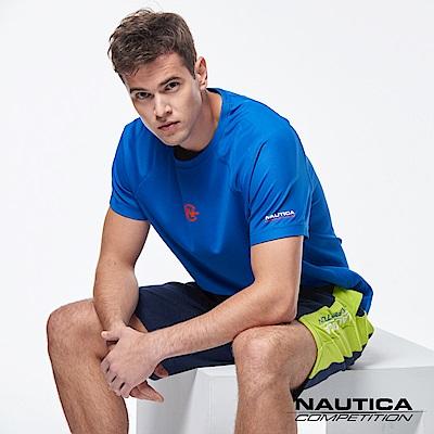 Nautica COMPETITION系列吸濕涼感短袖T恤-藍色