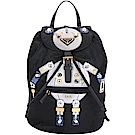 PRADA Nylon Robot 黑銀色機器人圖案尼龍後背包(中/展示品)