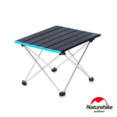 Naturehike FT08極輕量可捲式鋁合金露營桌 折疊桌 蛋捲桌 黑色