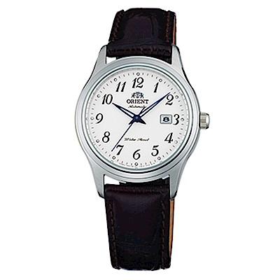 ORIENT東方錶  優雅經典手動上鍊女錶皮帶(FNR1Q00BW0)-白x30mm