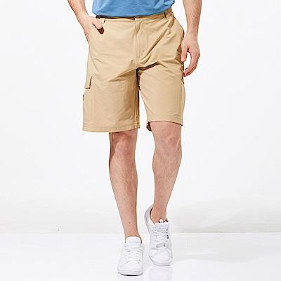 【HAKERS 哈克士】男 抗UV快乾彈性短褲-卡其