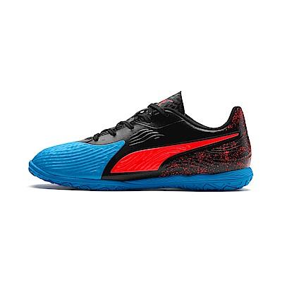 PUMA-ONE 19.4 IT Jr 孩童足球運動鞋-天藍色