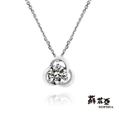 SOPHIA 蘇菲亞珠寶 - 花戀 GIA 30分 D_SI1 18K白K金 鑽石項墜