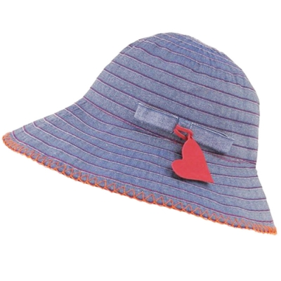 VIVIENNE WESTWOOD 抗UV素材行星圖騰LOGO造型遮陽帽(單寧藍)