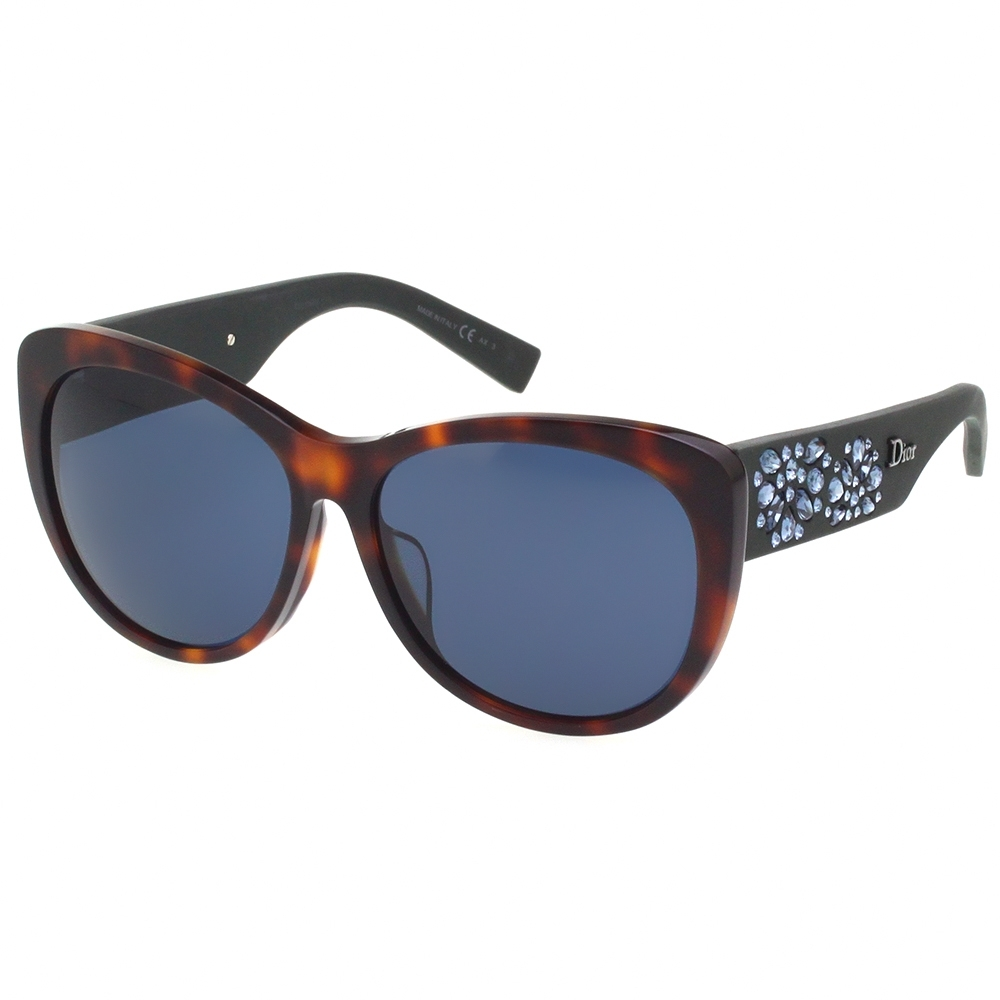 Dior 經典水鑽 太陽眼鏡(琥珀色)