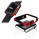 Apple Watch 38mm 鋁合金雙料保護殼 保護邊框(野性紅)