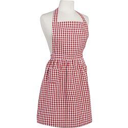 NOW 經典雙袋圍裙(格紋紅)