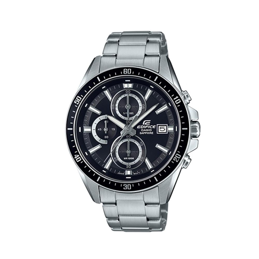 CASIO 卡西歐 EDIFICE系列 競速賽車三眼計時手錶-黑/44.1mm